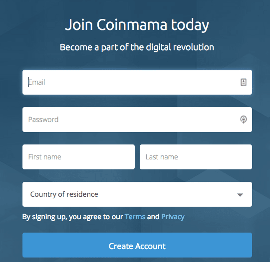 Coinmama-signup-form