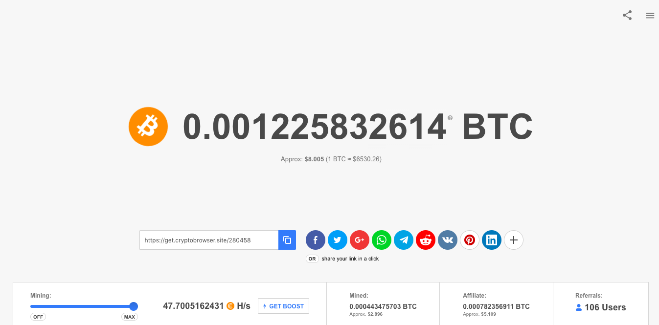 Cryptotab Running